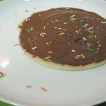 Crepes (sin huevo) con chocolate