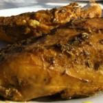 Pollo asado sin horno